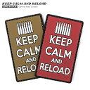 VT KEEP CALM AND RELOAD ラバー ベルクロワッペン / ジョークパッチ|アップリケ ミリタリー タクティカル 軍モノ ハンドメイド クラフト マジックテープ KEEP CALM AND CARRY ON 冬 春