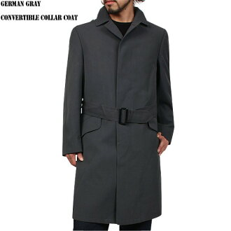 & Real utilizing the detail of the new Germany army グレーステン collar coat (military) military unique stylish check liner with military coat