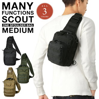 & Design to fit a multifunctional military スカウトワンショルダー bag Medium 3 color using one-shoulder 2 pattern can be angled in