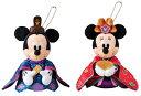 雛人形 ディズニー 東京ディズニーリゾート 雛祭り ミッキー、ミニーのひな人形姿のペアぬいぐるみバッチ