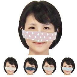 【送料無料】鼻マスク 鼻だけマスク 安心日本製ダブルガーゼ使用で快適 ノーズマスク 5色より選択水玉模様の可愛いマスクの進化はとまらない耳のゴムアジャスター付長さ調整可能いびき対策 マスクの煩わしさから解放される鼻のためだけの近未来型マスク