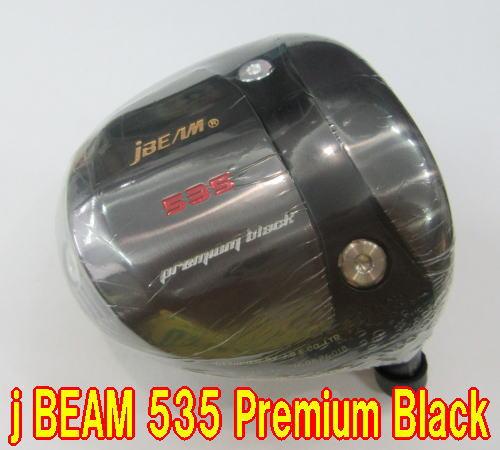 【最新モデル・送料無料】j BEAM 535 PREMIUM BLACK ドライバー 未使用新品 + カスタムシャフト装着 スペック指定新品!! CRIME OF ANGEL BURNING 追加!