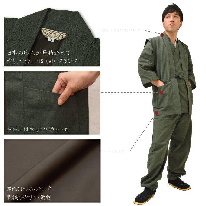 作務衣用 羽織 -たてスラブ羽織 (M-LL)...の紹介画像3