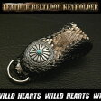 ベルトループキーホルダー キーチェーン パイソン レザー 牛革 メタルコンチョ Python Leather Keychain Keyholder WILD HEARTS(ID conc01k4)