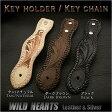 ベルトループのみの販売です!ベルトループ キーホルダー レザーHand Carved Genuine Leather Belt LoopWILD HEARTS Leather & Silver (ID con05k4)