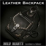 ��󥷥������Хå� �ܥǥ��Хå� ���������Хå� �쥶�� ��� ��High-Quality Leather Backpack Shoulder Bag Sling Bag L-SIZE WILD HEARTS Leather&Silver(ID lb1540b45)