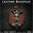 ボディバッグ 巾着型バッグ ショルダーバッグ レザー 牛革 タンLeather Backpack Gym Bag Rucksack TanWILD HEARTS Leather&Silver (ID bb3168b43)