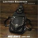 ボディバッグ ワンショルダーバッグ リュック 2WAY レザー/本革/レザー SサイズGenuine Leather 2 Way Backpack Shoulder Sling B..