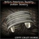 ショッピングスタンプ 新品 シッピー・クレイジー・ホース/Cippy Crazy Horse バングル ブレスレット インディアンジュエリー シルバー925 ユニセックスCippy Crazy Horse Cuff Bracelet Indian Jewelry Sterling Silver (ID na3188r73)