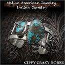 ショッピングバングル 新品 シッピー・クレイジー・ホース/Cippy Crazy Horse バングル ブレスレットアパッチブルー ターコイズ インディアンジュエリー シルバー925 ユニセックスCippy Crazy Horse cuff Apache Blue Turquoise Indian Jewelry Sterling Silver (ID na3189r73)