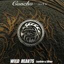 コンチョ シルバー925  龍 ドラゴン トライバル Concho DRAGON Sterling Silver 925WILD HEARTS Leather&Silver (ID c001t2)