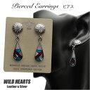 楽天ワイルドハーツピアス インレイ インディアンジュエリー シルバー925 ターコイズTurquoise Sterling Pierced Earrings/Native American style WILD HEARTS Leather&Silver (ID se3218)