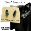 楽天ワイルドハーツピアス インディアンジュエリー シルバー925 ターコイズTurquoise Sterling Pierced Earrings/Native American style WILD HEARTS Leather&Silver (ID se3222)