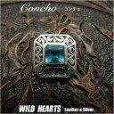 ショッピングHEARTS コンチョ/シルバー925/ブルージルコニア/concho/silver925/Aquamarine Zirconium/WILD HEARTS(ID 0573t31)