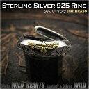フェザーリング ステアリングシルバー Silver925リング インディアンジュエリー風 Sterling Silver Ring Eagle Native American Style WILD HEARTS Leather&Silver (ID sr3677)