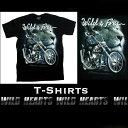 ショッピングHEARTS Tシャツ 半袖シャツ コットン 綿100% S/ M/ Lサイズ 黒 バイク Wild & Free Men's Black 100% Cotton T-Shirts S/M/L Size Biker Cotton WILD HEARTS Leather&Silver (ID ts2031r97)
