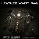 レザーウエストバッグ/ヒップバッグ/ブラック/Men's Genuine leather Waist Pouch Hip Pouch/ Purse/Bag Be...