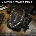 ショッピングウエストポーチ 3WAY ベルトポーチ ウエストポーチ/シザーバッグ  ショルダーバッグ レザー 本革 Genuine Leather Waist Pouch Purse Belt Pouch Shoulder bag Travel Bag WILD HEARTS Leather&Silver(ID wp0854r58)