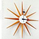 ジョージネルソンデザイン 壁掛け時計 -サンバーストクロック- (ウッディブラウン) 【あす楽対応】 【送料無料】