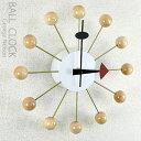【コンビニ受取対応商品】ジョージネルソンデザイン 壁掛け時計 -ボールクロック- (ナチュラル) 送料無料