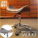 オフィスチェア 曲げ木 スツール SADDLE サドル キャスター 椅子 いす チェア スツール 曲木 木製 キャスター付き キャスター付 チェア 成型合板 オフィス オフィスチェア 木製 合成皮革 合皮 レザー 送料無料