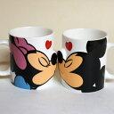 ミッキーマウス ミニーマウス ペアマグ キス | マグカップセット 【ギフトラッピング 無料】