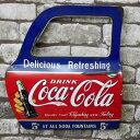 【エントリーで最大P28倍 6/21 20:00-6/26 01:59】送料無料 アメリカンレトロ ドア型プレート ブリキ アメリカ雑貨 壁掛け コカコーラ Coca Cola ドリンク DRINK 18