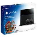 【新品】PS4本体 Playstation 4 First Limited Pack (プレイステーション4専用ソフト KNACK ダウンロード用 プロダクトコード 同梱)