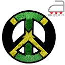 アイロンワッペン//ジャマイカ国旗×ピースマーク (レゲエ ジャマイカ IRIE Jamaica)