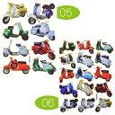 【カー&バイク】アクセントステッカー べスパ ピクチャータイプ 〈05〉8カット 〈06〉15カット キラキラ加工  (ピアジオ VESPA イタリアン スクーター MODS)