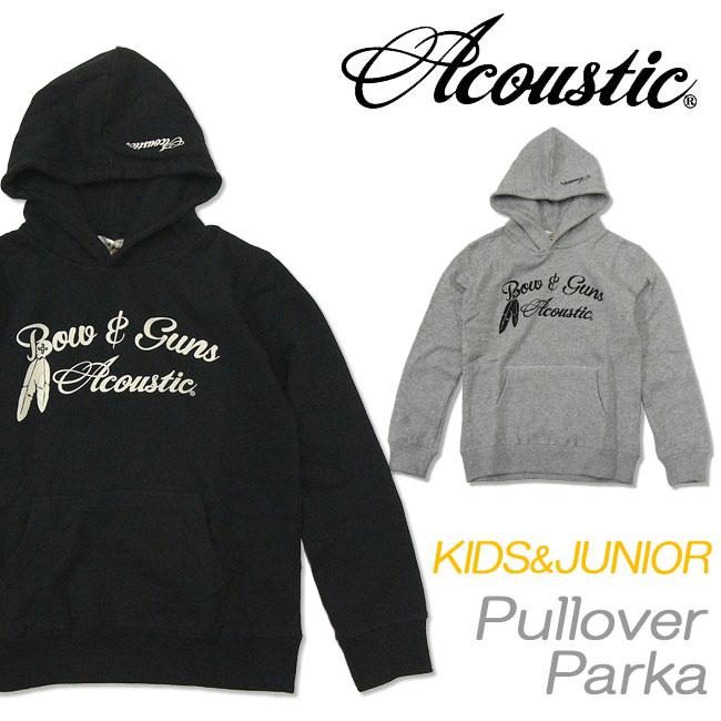 メール便対応[Acoustic]アコースティック[キッズ&ジュニア]プルオーバーパーカ(裏起毛)[1