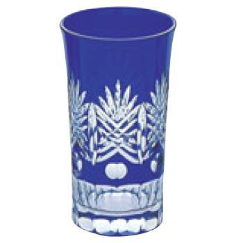 江戸切子 西陣・一口ビール ルリ 130-93-3【グラス】【カップ】【タンブラー】