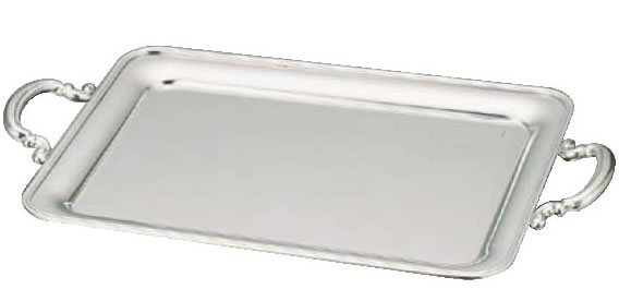 UK18-8B渕角盆18インチ(手付)バイキングビュッフェバンケットウェア皿18-8ステンレス業務用