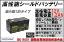LONG 【標準タイプ 期待寿命3〜5年】12V1.2Ah シールドバッテリー(完全密閉型鉛蓄電池) WP1.2-12 12V電源用に! 超小型タイプ