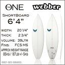 【送料無料】【Webber】ウェバー サーフボード ショートボード 6'4 Webber - SLX The One Clear with Decalsサーフィン ボード