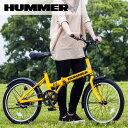 【代引き・同梱不可】【折り畳み自転車】 HUMMER FDB20R