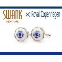 SWANK & Royal Copenhagen スワンク & ロイヤルコペンハーゲン コラボ カフスボタン rcc002/ジュエリー アクセサリー メンズジュエリー アクセサリー カフス ジュエリー アクセサリー メンズジュエリー アクセサリー カフス独特
