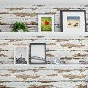 こすってアレンジ ヴィンテージ壁紙シート クラックドウッド 250cm幅×45cm丈(よこ貼り) VWP-06【ガーデニング・花・植物・DIY】