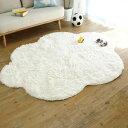 RoomClip商品情報 - 洗える雲ラグ!!ふわふわ雲型のおしゃれなシャギーラグ MOKUMOKU(モクモク) 130×170cm【敷物・カーテン】