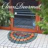玄関クリーンマット 石タイル調半円 オーロラタイプ 玄関マット 屋外 屋内 洗える おしゃれ 0218075 オーロラ 46×76×0.7cm