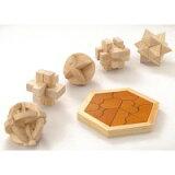 大人のための木製パズル6点セット 145-106/6158bo/木製 木 ウッド wood 木材 材木 木肌 木目 天然木