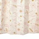 カーテン 北欧 花柄 レッド 遮光カーテン 幅150cm×丈120cm2枚 ku355re 納期10日程度