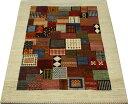 高級ペルシャギャベ ラグ カーペット ウール100% ギャッベ絨毯 天然草木染め 手織り RIZBAFT TAJIK リーズバフト 約158×218cm PG2097 (Y) マルチカラー 引っ越し 新生活