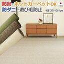 【送料無料】【楽天1位】カーペット 4.5畳 4.5帖 261x261cm 四畳半 4畳半 防炎 ラグ 日本製 じゅうたん 防ダニラグマット 北欧 床暖対応 ホットカーペット対応 無地 絨毯 床暖房対応 リビング 寝室 carpet ragu rug LE(S)