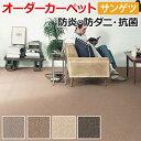 オーダーカーペット サンゲツ カーペット 絨毯 じゅうたん ラグ マット サンナチュラル 約100×350cm ウール ベーシック シンプル...