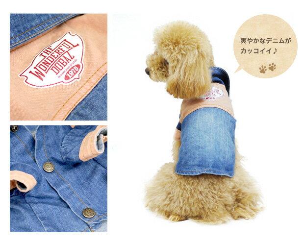 【犬服】ユーズド風 デニムシャツ ドッグウェア...の紹介画像2