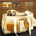 【犬 キャリーバッグ】とてもオシャレな水玉&フェイクレザー使いのボストンキャリーバッグ 小型犬用 犬...