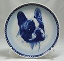 犬の絵皿・フレンチ・ブルドッグ・#7568 (ドッグプレート)