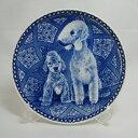 【送料無料】犬の絵皿・ベドリントン・テリアの親子・#3022 (ドッグプレート)