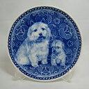 【送料無料】犬の絵皿・ノーリッチ・テリアの親子・#3042 (ドッグプレート)